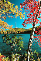 Autumn View of High Point State Park, NJ showing fall foliage. New Jersey USA High Point State Park.