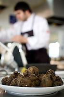 Belo Horizonte, 28 de janeiro de 2009...Festival Gastronomico Sabor e Saber, na foto detalhe de trufas pretas...The Gastronomic Festival Sabor e Saber, in this photo some black truffles...Foto: BRUNO MAGALHAES / NITRO