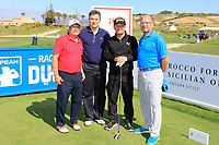 Team Kjeldsen during the ProAm ahead of the Rocco Forte Sicilian Open played at Verdura Resort, Agrigento, Sicily, Italy 09/05/2018.<br /> Picture: Golffile | Phil Inglis<br /> <br /> <br /> All photo usage must carry mandatory copyright credit (&copy; Golffile | Phil Inglis)