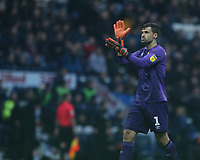 Hull City's goalkeeper David Marshall celebrates his side scoring the opening goal <br /> <br /> Photographer Stephen White/CameraSport<br /> <br /> The EFL Sky Bet Championship - Preston North End v Hull City - Wednesday 26th December 2018 - Deepdale Stadium - Preston<br /> <br /> World Copyright &copy; 2018 CameraSport. All rights reserved. 43 Linden Ave. Countesthorpe. Leicester. England. LE8 5PG - Tel: +44 (0) 116 277 4147 - admin@camerasport.com - www.camerasport.com