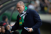 PORTLAND, OR - MARCH 01: Head Coach of the Portland Timbers, Giovanni Savarese, heads to the team bench for the first game of the MLS season during a game between Minnesota United FC and Portland Timbers at Providence Park on March 01, 2020 in Portland, Oregon.