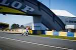 The rider Valentino Rossi during the MotoGP race of Le Mans in France. 05/18/2014. Samuel de Roman/Photocall3000
