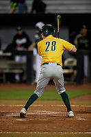 Siena Saints Tim Carroll (28) bats during a game against the UCF Knights on February 14, 2020 at John Euliano Park in Orlando, Florida.  UCF defeated Siena 2-1.  (Mike Janes/Four Seam Images)