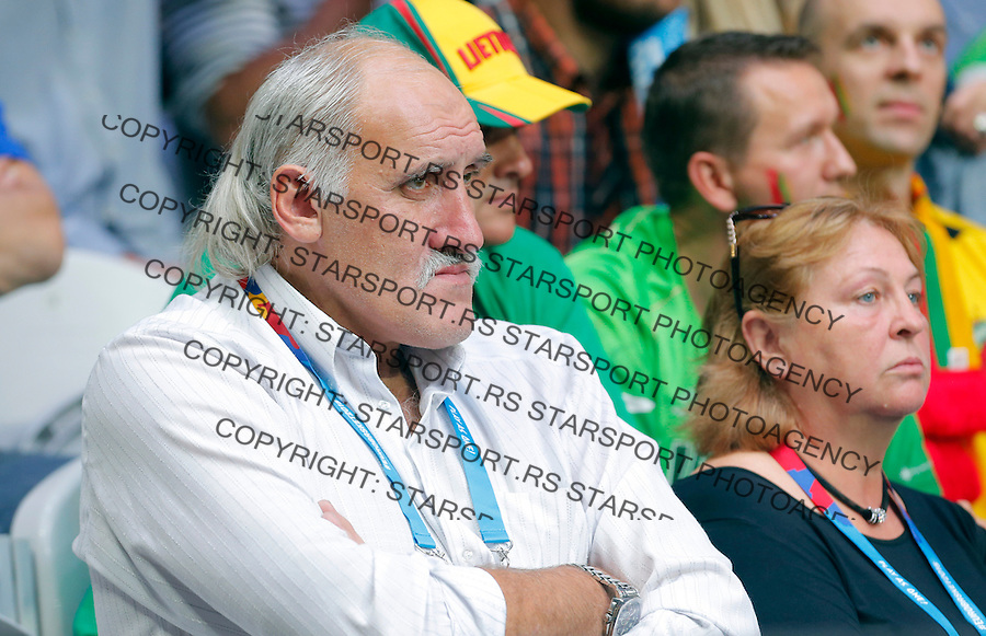 Vladimir Tkatchenko Tkachenko during European championship basketball final match between Spain and Lithuania on September 20, 2015 in Lille, France  (credit image & photo: Pedja Milosavljevic / STARSPORT)