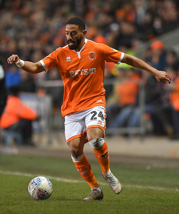 Blackpool's Liam Feeney<br /> <br /> Photographer Dave Howarth/CameraSport<br /> <br /> The EFL Sky Bet League One - Blackpool v Doncaster Rovers - Tuesday 12th March 2019 - Bloomfield Road - Blackpool<br /> <br /> World Copyright © 2019 CameraSport. All rights reserved. 43 Linden Ave. Countesthorpe. Leicester. England. LE8 5PG - Tel: +44 (0) 116 277 4147 - admin@camerasport.com - www.camerasport.com