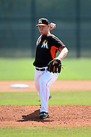 Miami Marlins pitcher Austin Brice (35) during a minor league spring training intrasquad game on April 2, 2015 at the Roger Dean Complex in Jupiter, Florida.  (Mike Janes/Four Seam Images)