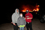 Residents watch the Sylmar Fire which started near Veterans Park in Sylmar.15 November 2008