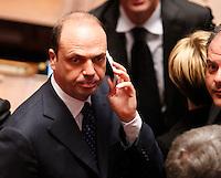 ROMA SEDUTA DI INSEDIAMENTO ALLA CAMERA DEI DEPUTATI DEL PARLAMEENTO ITALIANO.NELLA FOTO ANGELINO ALFANO.FOTO CIRO DE LUCA