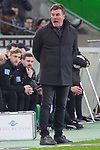 15.03.2019, Borussia Park , Moenchengladbach, GER, 1. FBL,  Borussia Moenchengladbach vs. SC Freiburg,<br />  <br /> DFL regulations prohibit any use of photographs as image sequences and/or quasi-video<br /> <br /> im Bild / picture shows: <br /> Dieter Hecking Trainer/Headcoach (Gladbach), ratlos ?<br /> <br /> Foto &copy; nordphoto / Meuter