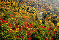 Blue Ridge Parkway, North Carolina, NC, View from Rough Ridge of the Blue Ridge Parkway in the fall.