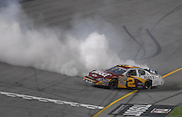 May 4, 2007; Richmond, VA, USA; Nascar Busch Series driver Clint Bowyer (2) celebrates after winning the Circuit City 250 at Richmond International Raceway. Mandatory Credit: Mark J. Rebilas