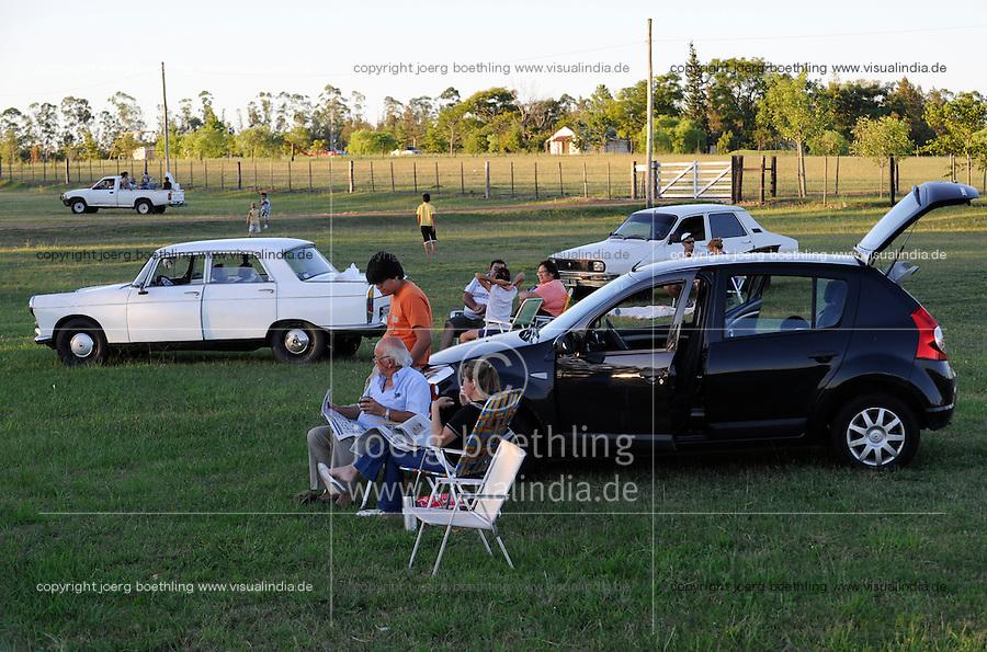 URUGUAY Salto, people spend leisure time at street crossings