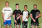 Listowel Badminton Championships: Taking part in the Listowel Badminton Championships in the Listowel Sports centre on Sunday last wereJames O'Connell, David Browne, Shaqais Mahmood & Christy Deane.