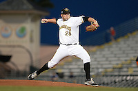 Bradenton Marauders pitcher Brett McKinney (28) delivers a pitch during a game against the Jupiter Hammerheads on April 18, 2015 at McKechnie Field in Bradenton, Florida.  Bradenton defeated Jupiter 4-1.  (Mike Janes/Four Seam Images)