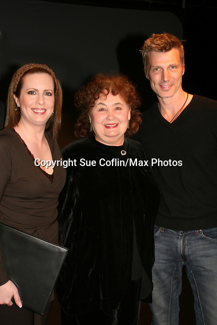 Martha Byrne, Kathleen Widdoes, Paolo Seganti (stars of As the Epic Turns) at the ATWT reunion to benefit Epic Theatre Ensemble after-school Bridge Projects - As The Epic Turns - on April 17 & 18, 2009 at The Peter Jay Sharp Theatre, NYC. (Photo by Sue Coflin/Max Photos)