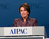 United States House Democratic Leader Nancy Pelosi (Democrat of California) speaks at the annual American Israel Public Affairs Committee (AIPAC) Policy Conference at the Washington Convention Center in Washington, D.C. on Monday, March 5, 2012..Credit: Ron Sachs / CNP