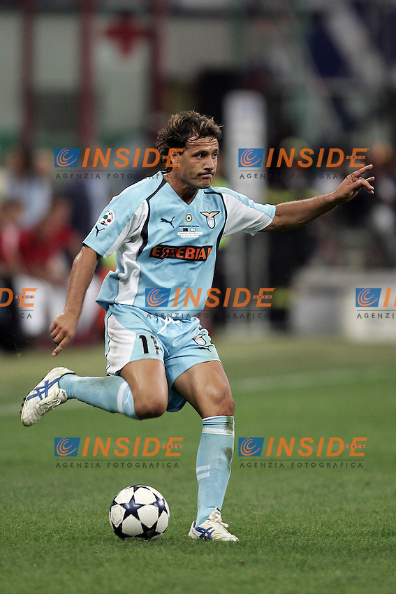 Milano 21/8/2004 Supercoppa Italiana - Italian Supercup Milan Lazio 3-0 Roberto Muzzi Lazio <br /> Foto Andrea Staccioli Insidefoto