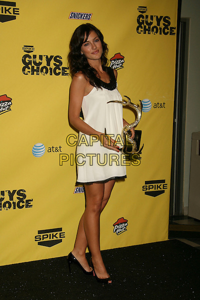 "MINKA KELLY.Spike TV's ""Guy Choice"" Awards held at Radford Studios, Studio City, California, USA..June 9th, 2007.full length black and white dress Christian Louboutin shoes.CAP/ADM/RE.©Russ Elliot/AdMedia/Capital Pictures"