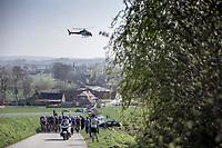 Peloton up the Knokteberg.  <br /> <br /> 62nd E3 Harelbeke 2019 (1.UWT)<br /> Harelbeke – Harelbeke: 203,9km<br /> ©kramon