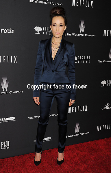 BEVERLY HILLS, CA- JANUARY 12: Actress Maggie Q attends The Weinstein Company &amp; Netflix 2014 Golden Globes After Party held at The Beverly Hilton Hotel on January 12, 2014 in Beverly Hills, California.<br />