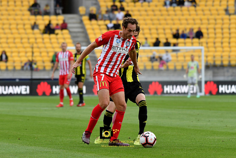 Melbourne City's Rostyn Griffiths in action during the A League - Wellington Phoenix v Melbourne City FC at Westpac Stadium, Wellington, New Zealand on Saturday 26 January 2019. <br /> Photo by Masanori Udagawa. <br /> www.photowellington.photoshelter.com