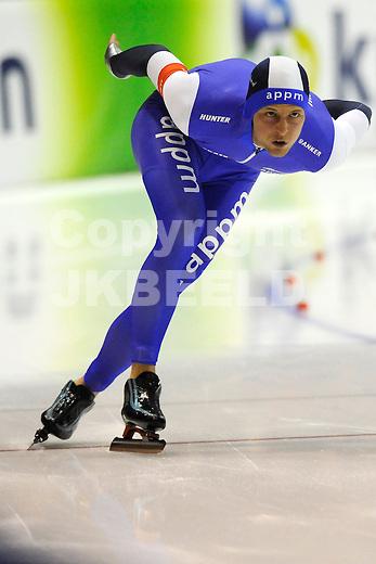 HEERENVEEN - Schaatsen,IJstadion Tialf,  NK afstanden,  500 meter heren seizoen 2011-2012 , 05-11-2011 Michel Mulder