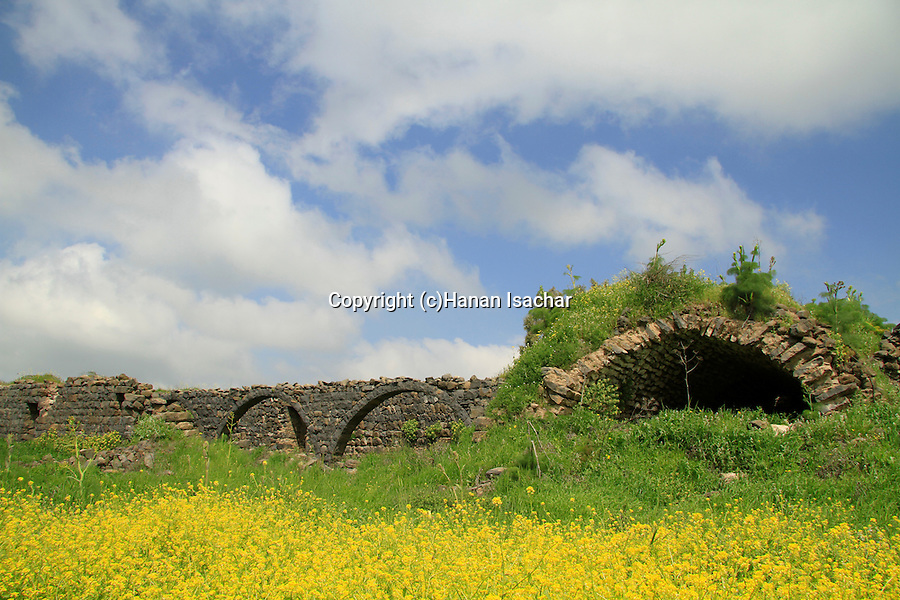 Golan Heights, ruins of Khan Juhader