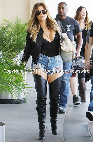 Pictured: Khloe Kardashian<br /> Mandatory Credit &copy; ACLA/Broadimage<br /> Khloe Kardashian arriving at Loews Hollywood Hotel<br /> <br /> 3/7/14, Hollywood, California, United States of America<br /> <br /> Broadimage Newswire<br /> Los Angeles 1+  (310) 301-1027<br /> New York      1+  (646) 827-9134<br /> sales@broadimage.com<br /> http://www.broadimage.com