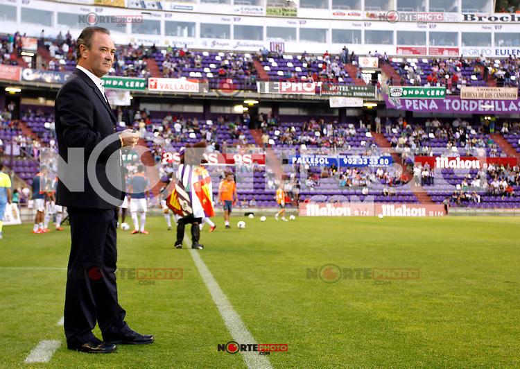 Real Valladolid´s coach Juan Ignacio Martinez during La Liga match.August 31,2013. (ALTERPHOTOS/Victor Blanco)