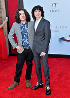 "LOS ANGELES, USA. August 27, 2019: Nick Wolfhard & Finn Wolfhard at the premiere of ""IT Chapter Two"" at the Regency Village Theatre.<br /> Picture: Paul Smith/Featureflash"