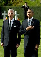Barack Obama at the Flanders Field American Cemetery and Memorial, in Waregem - Belgium