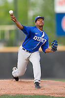 Starting pitcher Marcus Stroman #7 of the Duke Blue Devils in action against the Wake Forest Demon Deacons at the Wake Forest Baseball Park April 23, 2010, in Winston-Salem, NC.  Photo by Brian Westerholt / Sports On Film
