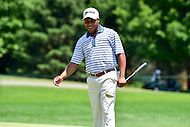 Bethesda, MD - June 26, 2016: Harold Varner III (USA) enjoyes a moment on hole one during Final Round of play at the Quicken Loans National Tournament at the Congressional Country Club in Bethesda, MD, June 26, 2016. (Photo by Philip Peters/Media Images International)