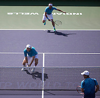 DOMINIC INGLOT (GBR), FLORIN MERGEA (ROM)<br /> <br /> Tennis - BNP PARIBAS OPEN 2015 - Indian Wells - ATP 1000 - WTA Premier -  Indian Wells Tennis Garden  - United States of America - 2015<br /> &copy; AMN IMAGES