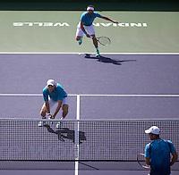 DOMINIC INGLOT (GBR), FLORIN MERGEA (ROM)<br /> <br /> Tennis - BNP PARIBAS OPEN 2015 - Indian Wells - ATP 1000 - WTA Premier -  Indian Wells Tennis Garden  - United States of America - 2015<br /> &copy; AMN IMAGES