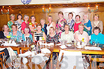 Members of the Abbeyfeale Bridge Club enjoying an end of season night out last Friday in Leen's Hotel, Abbeyfeale. F l-r: Josephine Halpin, Kitty Healy, Mauren Keating, Peg Fitzgerald, Fidlema Cross, Mary Liston, Mary Moloney, Gillian Jolly. B l-r: Betty O'Leary, Nicola Stack, Noranne Dennison, Marian O'Connell, Mary O'Sullivan, Mairead Daly, Nora Gaire, Moira Ahern, Betty Galvin, Brenda Henley and Anne Curtin.