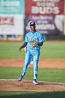 Ogden Raptors starting pitcher Jeronimo Castro (52) during the game against the Orem Owlz at Lindquist Field on June 20, 2019 in Ogden, Utah. The Owlz defeated the Raptors 11-8. (Stephen Smith/Four Seam Images)