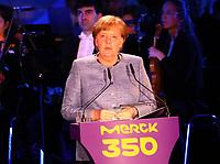 Ansprache von Bundeskanzlerin Angela Merkel (CDU) 03.05.2018: Festakt zu 350 Jahre Merck in Darmstadt mit Bundeskanzlerin Angela Merkel