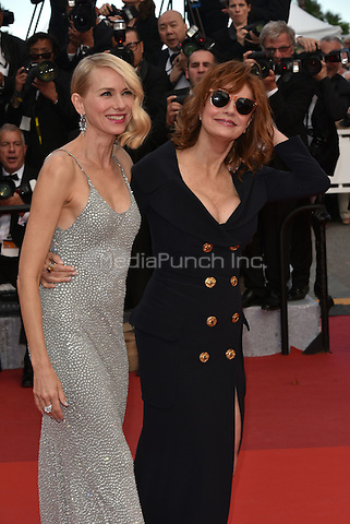 CANNES, FRANCE - MAY 12: Naomi Watts &amp; Susan Sarandon at&acute;Money Monster` screening - 69th Cannes Film Festival, France May 12, 2016.<br /> CAP/PL<br /> &copy;Phil Loftus/Capital Pictures /MediaPunch ***NORTH AND SOUTH AMERICA ONLY***