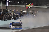 #16: Brett Moffitt, Hattori Racing Enterprises, Toyota Tundra AISIN Group celebrates his Championship win