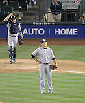 Masahiro Tanaka (Yankees), JUNE 11, 2014 - MLB : Pitcher Masahiro Tanaka of the New York Yankees reacts after giving up a home run to Seattle Mariners' Robinson Cano (unseen) in the 9th inning during the Major League Baseball game against the Seattle Mariners at Safeco Field in Seattle, Washington, United States. (Photo by AFLO)