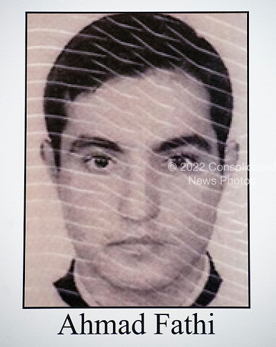 Mug shot of Ahmad Fathi, one of the cyber hackers employed by the Iranian government, who was named in criminal charges against him at a press conference conducted by United States Attorney General Loretta E. Lynch and US Attorney Preet Bharara of the Southern District of New York at the Department of Justice in Washington, DC on Thursday, March 24, 2016.  He was one of seven individuals charged with conducting cyber attacks against the US financial sector and the Bowman Dam in Rye, NY.<br /> Credit: FBI via CNP<br /> (RESTRICTION: NO New York or New Jersey Newspapers or newspapers within a 75 mile radius of New York City)
