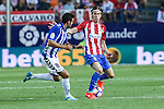 Atletico de Madrid's Filipe Luis  during the match of La Liga Santander between Atletico de Madrid and Deportivo Alaves at Vicente Calderon Stadium. August 21, 2016. (ALTERPHOTOS/Rodrigo Jimenez)