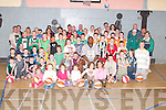 BASKETBALLERS: Young basketballers from St Brendans Basketball Club, Tralee, with their parents at the end of the Easter Camp Basketball Blitz at Cumann Iosaef on Monday..