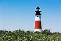 Sankaty Lighthouse in Siasconset, Nantucket, Massachusetts, USA.