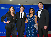 From left to right: Chief White House correspondent for NBC News Hallie Jackson; Capitol Hill correspondent Kasie Hunt; and White House correspondents Kristen Welker and Peter Alexander arrive for the 2018 White House Correspondents Association Annual Dinner at the Washington Hilton Hotel on Saturday, April 28, 2018.<br /> Credit: Ron Sachs / CNP<br /> <br /> (RESTRICTION: NO New York or New Jersey Newspapers or newspapers within a 75 mile radius of New York City)