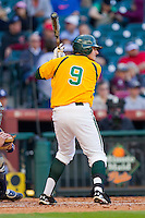 Max Muncy #9 of the Baylor Bears at bat against the Rice Owls at Minute Maid Park on March 6, 2011 in Houston, Texas.  Photo by Brian Westerholt / Four Seam Images