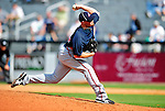 2 March 2010: Atlanta Braves pitcher Mike Dunn in action against the New York Mets during the Opening Day of Grapefruit League play at Tradition Field in Port St. Lucie, Florida. The Mets defeated the Braves 4-2 in Spring Training action. Mandatory Credit: Ed Wolfstein Photo
