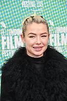 Jessica Anne Woodley at 'Portrait of a Lady on Fire' premiere, an 18th century drama about a female painter who falls in love with her subject, at Embankment Gardens Cinema, London, England on October 08, 2019.<br /> CAP/JOR<br /> ©JOR/Capital Pictures