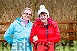 Pauline Barrett and Margaret Ryan, pictured at the Operation Transformation Walk at Tralee Bay Wetlands on Saturday morning last.